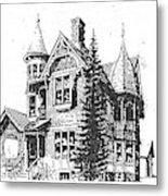 Brooks Hotel, Corvallis, Montana Metal Print