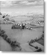 Brothers In Arms Bw Version Metal Print