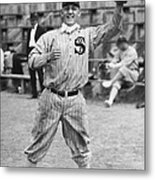 Buck Weaver Is Ready To Catch A Ball Metal Print