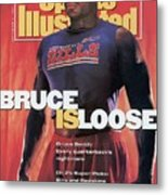 Buffalo Bills Bruce Smith, 1991 Nfl Football Preview Sports Illustrated Cover Metal Print
