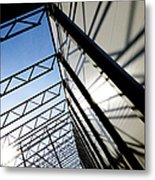 Building Abstract Metal Print