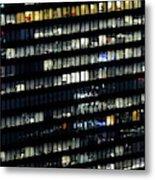 Building At Night In Tokyo Metal Print