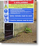 Building Site Sign Metal Print