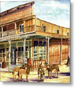 Burros Are Back In Town Metal Print