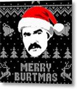 Burt Reynolds Christmas Shirt Metal Print