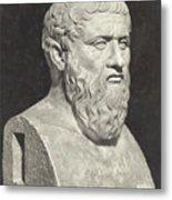 Bust Of Grecian Philosopher Plato Metal Print