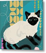 Buster The Shelter Cat Metal Print