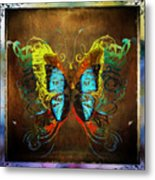Butterfly Abstract Metal Print