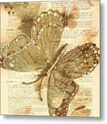 Butterfly Antiquities Metal Print