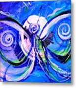 Butterfly Blue Violet Metal Print