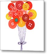Buttons As Balloons Metal Print