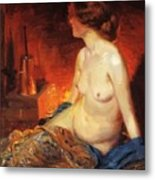 By The Fireside 1910 Metal Print
