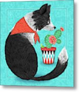 C Is For Collie Metal Print