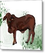 C Is For Cow Metal Print