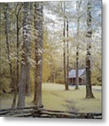 Cabin In The Smoky's Metal Print