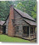 Cabin In The Woods - Fractals Metal Print