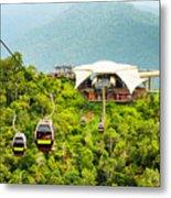 Cable Car On Langkawi Island, Malaysia Metal Print