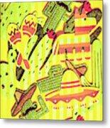 Cactus Carnival Metal Print