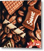 Cafe Beans And Sweet Treats Metal Print