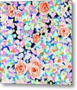 California Rose Garden Metal Print