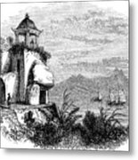 Camoens Grotto, Macao, 1847. Artist Metal Print