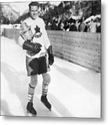 Canadian Hockey Captain With Olympic Metal Print