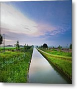 Canal De Lourcq - Precy Sur Marne - Metal Print