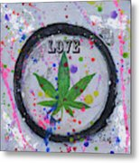Cannabis With Love Metal Print