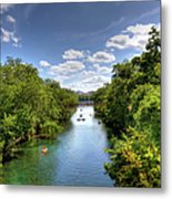 Canoes On Town Lake In Downtown Austin Metal Print