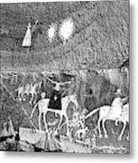 Canyon De Chelley Pictographs Metal Print