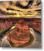 Canyons Bend Vertical  Metal Print