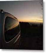 Car Sunset Metal Print