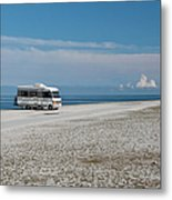 Caravan On Beach Metal Print