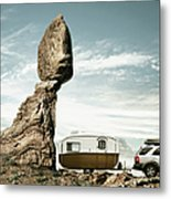 Careless Camping Metal Print