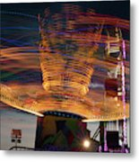Carnival Rides Motion Blur Metal Print