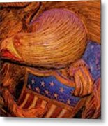 Carved Wood - Eagle Metal Print