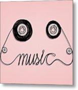 Cassette Tape Music Graphic Metal Print
