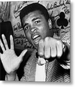 Cassius Clay Arrived In London For A Metal Print