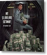 Cassius Clay, Heavyweight Boxing Sports Illustrated Cover Metal Print