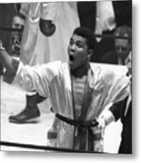 Cassius Clay Vs Doug Jones Metal Print