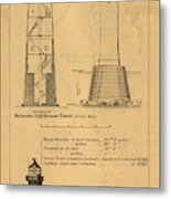 Cast Iron Lighthouses Metal Print