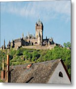 Castle At Cochem In Germany Metal Print