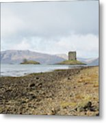 castle Stalker in late autumn Metal Print