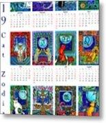 Cat Zodiacs Calendar Metal Print