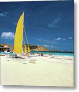Catamarans And People On Martin Orient Metal Print