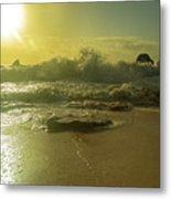 Catching The Spirit Sun Coastal Sunrise Metal Print