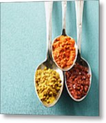 Cayenne Pepper, Curry Powder And Rock Metal Print