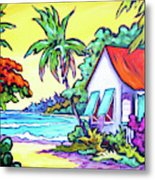 Cayman Cottage On The Bay Metal Print