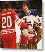 Cccp Beats Us Rivals In Exhibition Game Metal Print