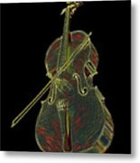 Cello Music Instrument Professional Musician Designed Metal Print